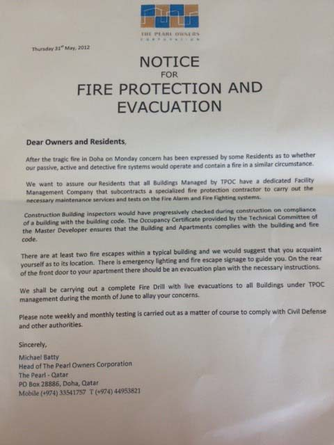 Pearl fire rattles residents, raises concerns about Qatar's emergency response preparedness ...