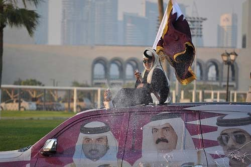 The stickers banners and posters that customarily adorn many cars during qatars national day are illegal traffic officials have said reminding accessory