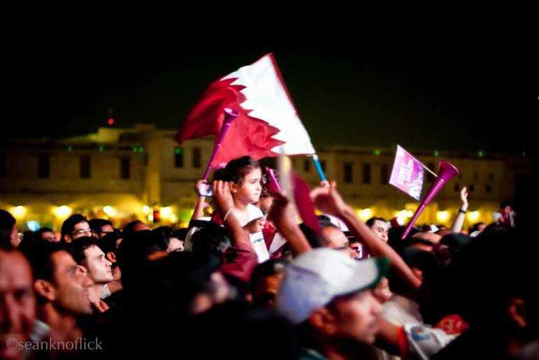 Qatar World Cup bid celebration, 2010.