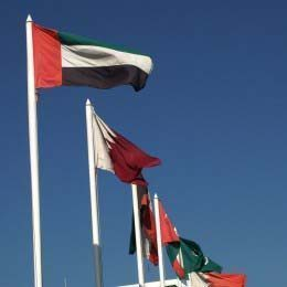 Gulf Cooperation Council (GCC) - Flags flying high