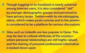 Excerpt of social media key findings