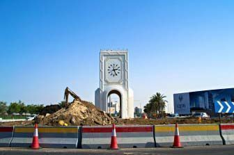 Umm Ghuwailina Roundabout, which was taken down last year.