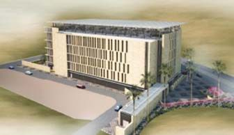Hamad Medical City simulation center rendering