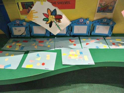 Children's artwork at Gympanzee