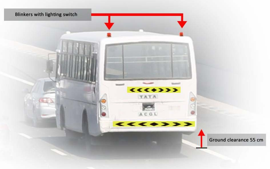 Lights and reflective tape are among the new requirements for buses in qatar