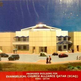 A rendering of the new Evangelical Churches Alliance Qatar.
