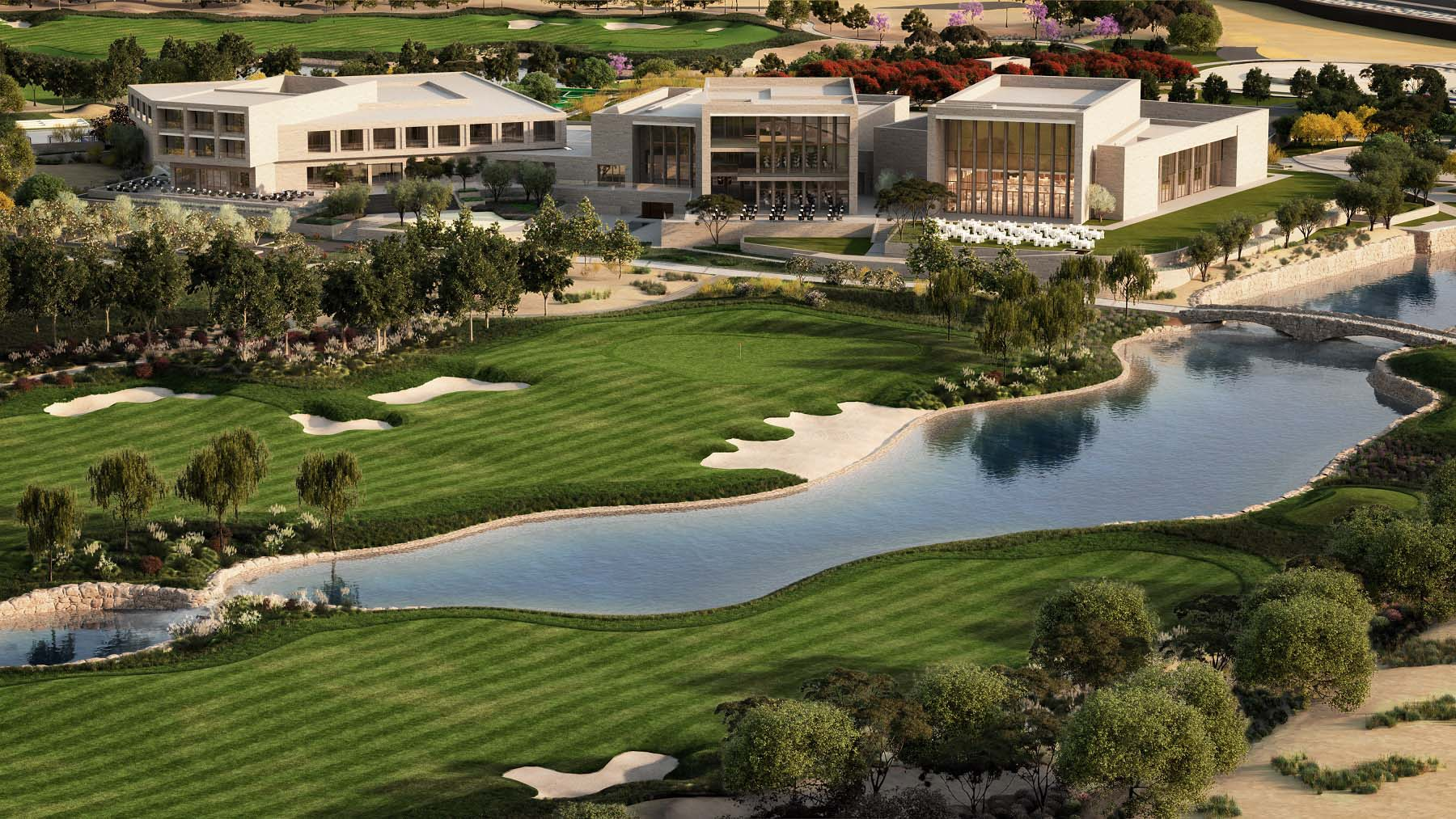 qatar foundation plans massive golf course in education. Black Bedroom Furniture Sets. Home Design Ideas