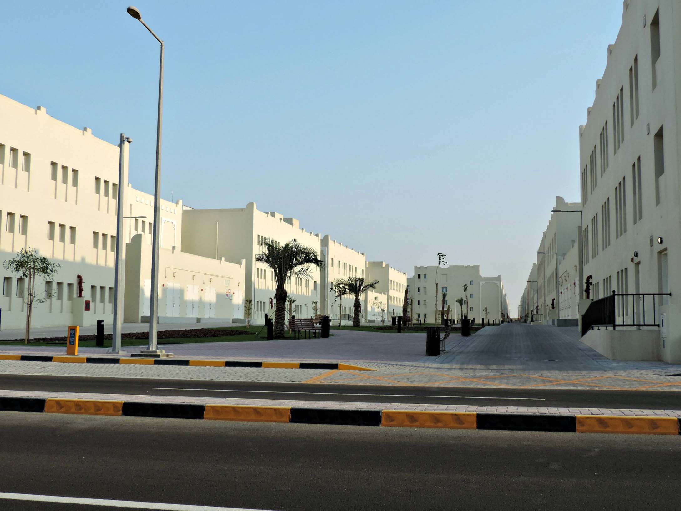A street at Labor City, on the outskirts of Doha