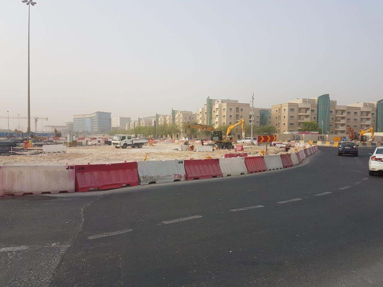 Civil Defense Roundabout construction